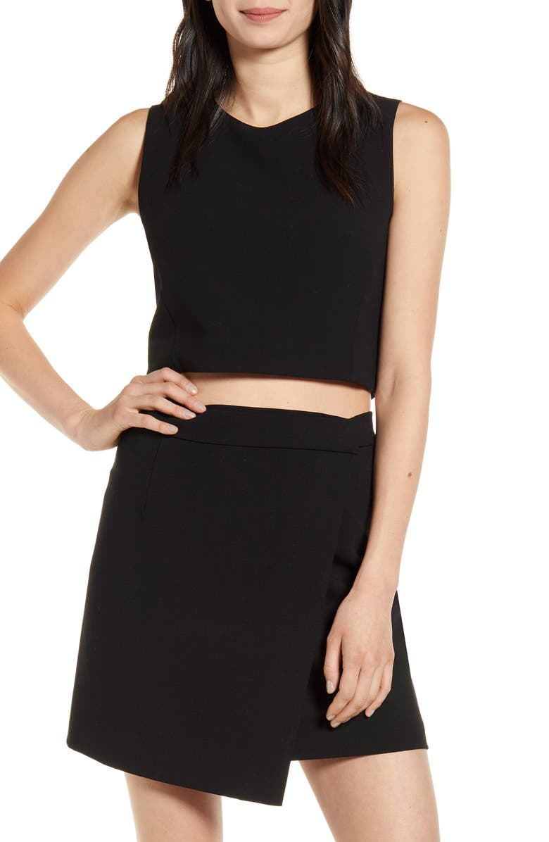 FRENCH CONNECTION Sundae Whisper Crop Top, Main, color, 001