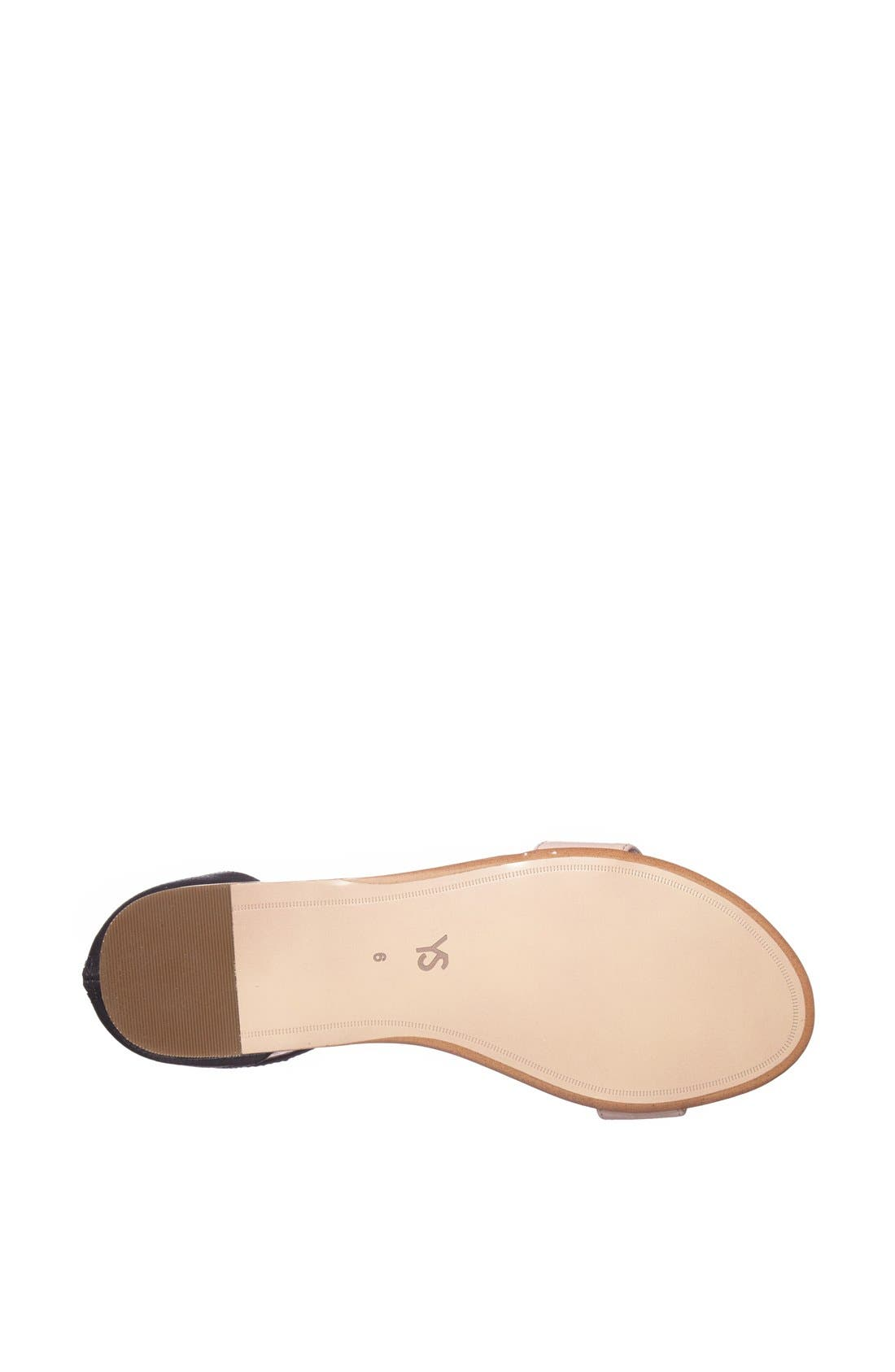 ,                             'Cambelle' Ankle Strap Sandal,                             Alternate thumbnail 4, color,                             001