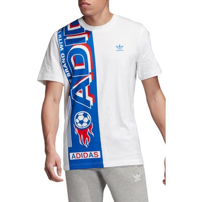 Adidas Originals Side Scarf Graphic T-Shirt, White