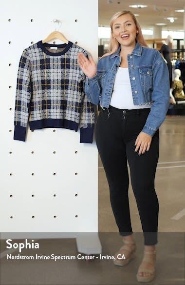 Cozy Bouclé Plaid Sweater, sales video thumbnail