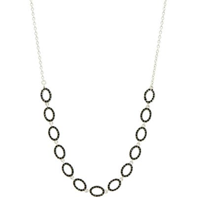 Freida Rothman Industrial Finish Pave Frontal Necklace