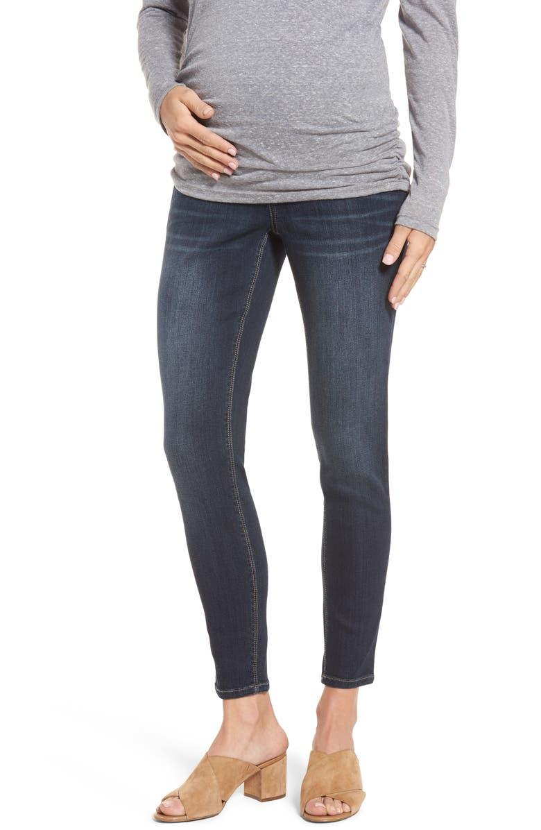 1822 DENIM Maternity Ankle Skinny Jeans, Main, color, LENNOX