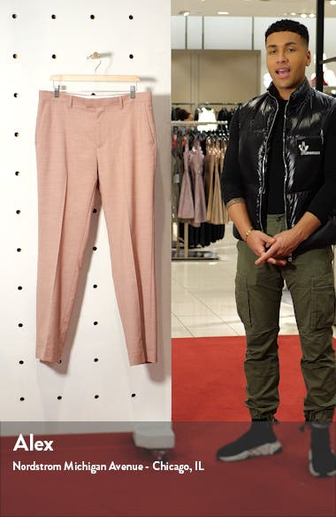 Dax Slim Fit Flat Front Ankle Trousers, sales video thumbnail