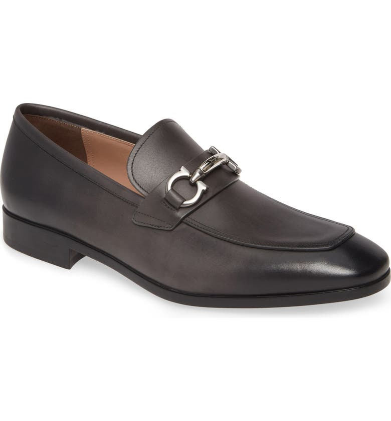 SALVATORE FERRAGAMO Benford Rounded Bit Loafer, Main, color, EXCLUSIVE GREY
