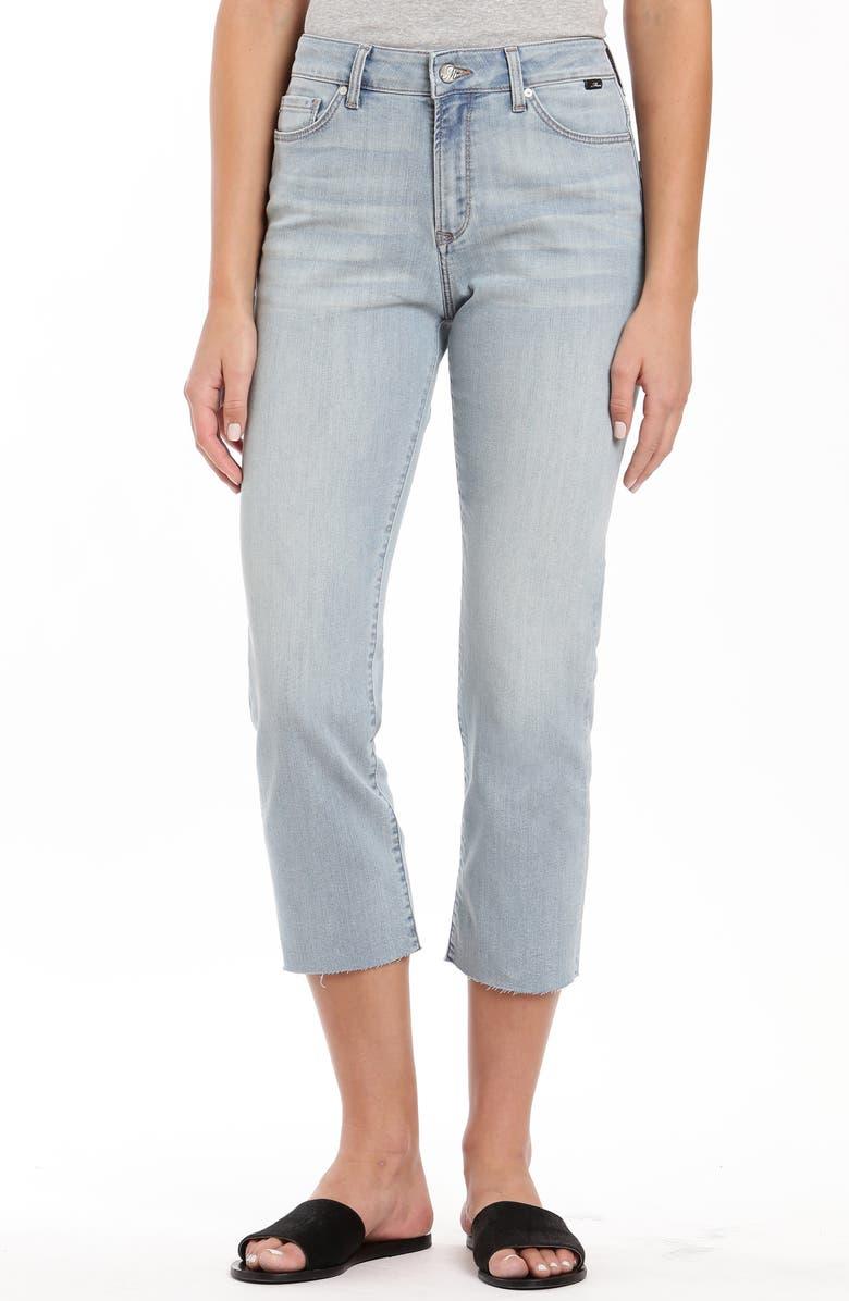 MAVI JEANS Niki Raw Hem Crop Jeans, Main, color, BLEACH TRIBECA