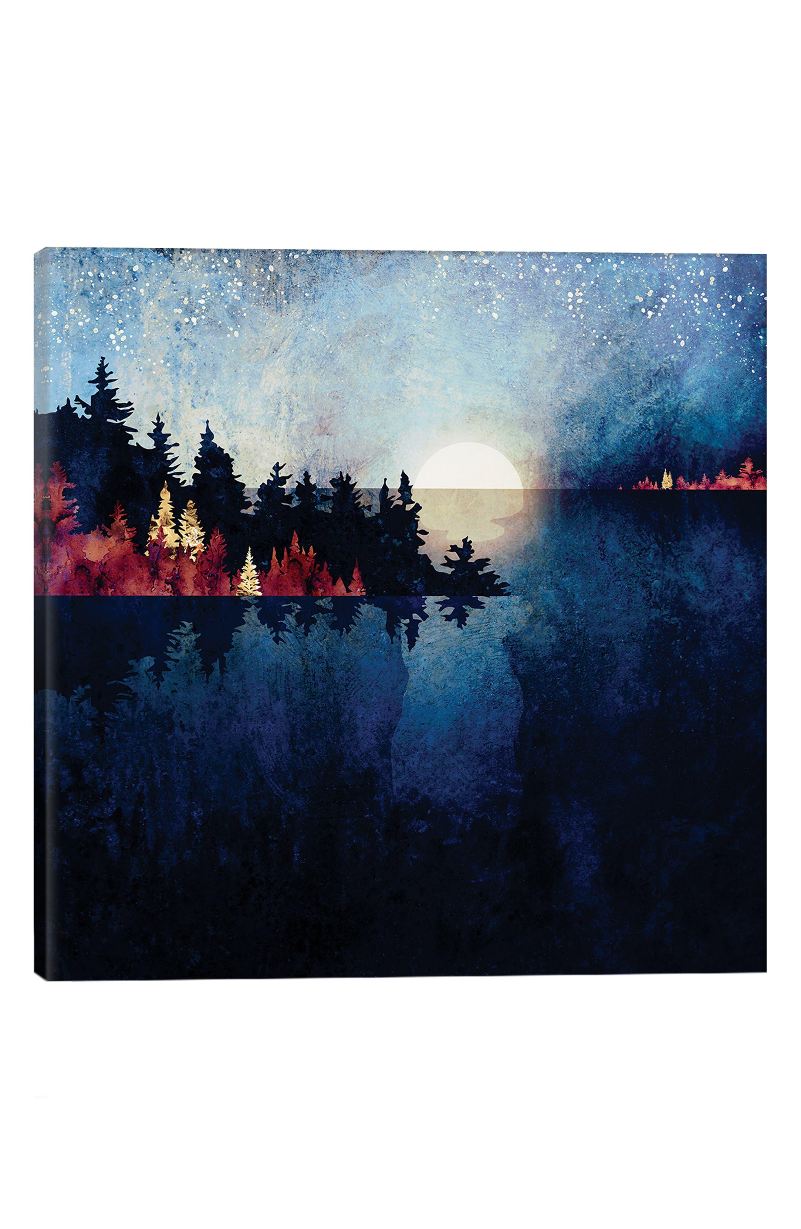 Icanvas Autumn Moon Reflection Print In Multi
