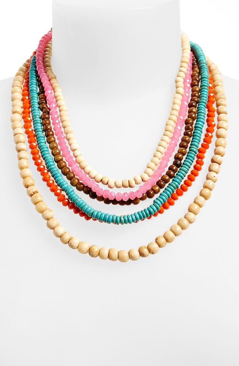 PANACEA Multicolor Beaded Multistrand Necklace, Main, color, 250