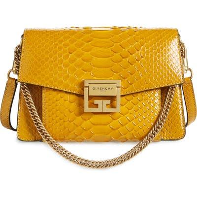 Givenchy Small Gv3 Genuine Python Shoulder Bag - Yellow