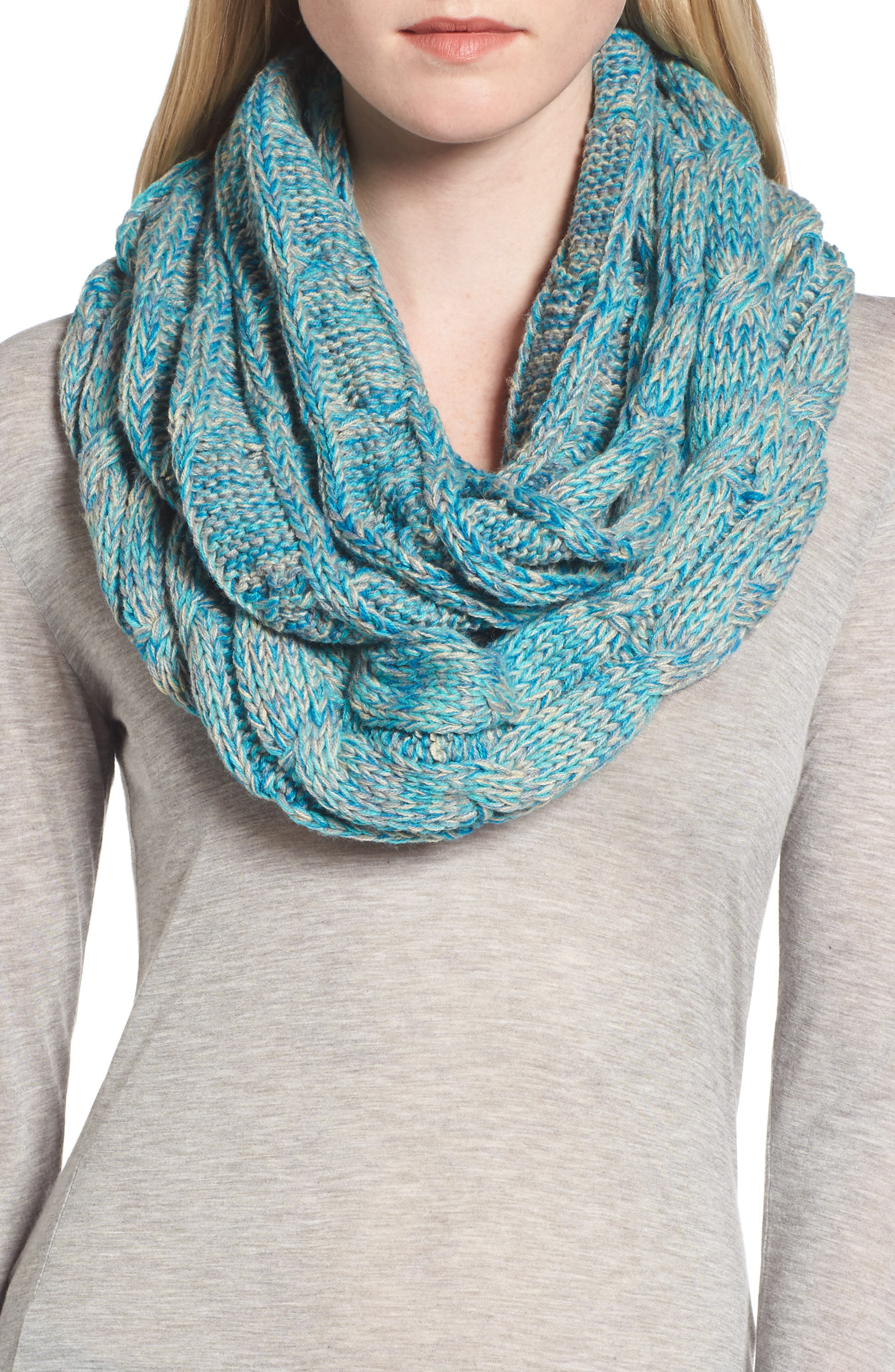 ,                             CC Knit Infinity Scarf,                             Main thumbnail 5, color,                             400
