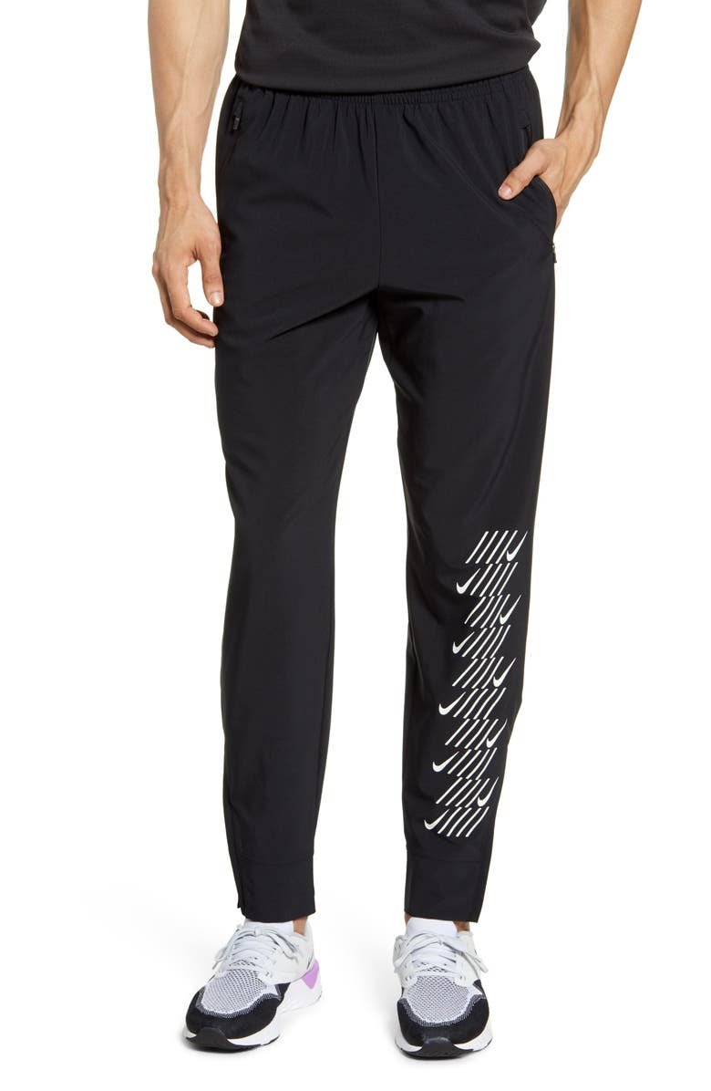NIKE Phantom Essence Capsule Running Pants, Main, color, BLACK/ WHITE