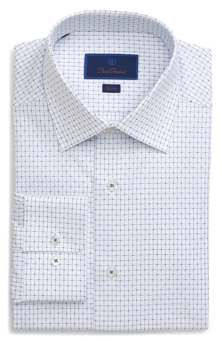 DAVID DONAHUE Slim Fit Dress Shirt, Main, color, 135