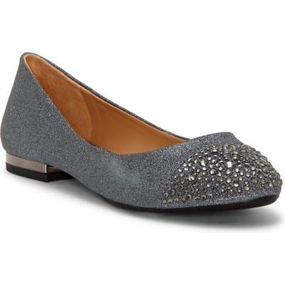 Jessica Simpson Genia Crystal Cap Toe Flat, Grey