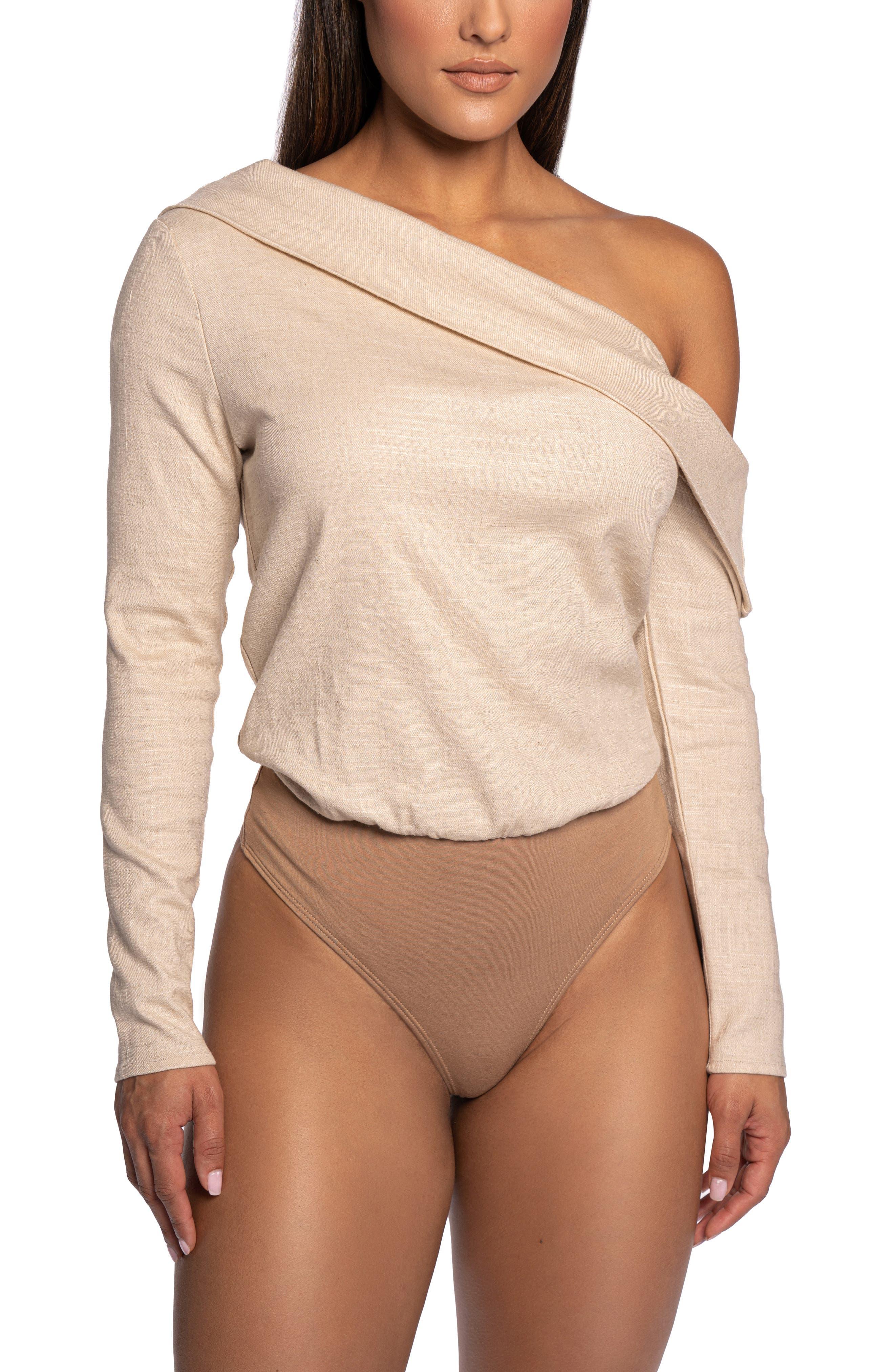 Akemi One-Shoulder Long Sleeve Bodysuit
