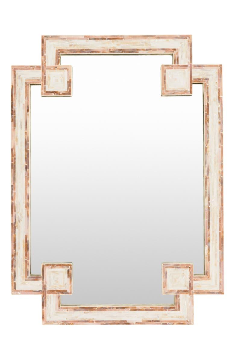 SURYA HOME Banks Inlaid Mirror, Main, color, IVORY/ BEIGE