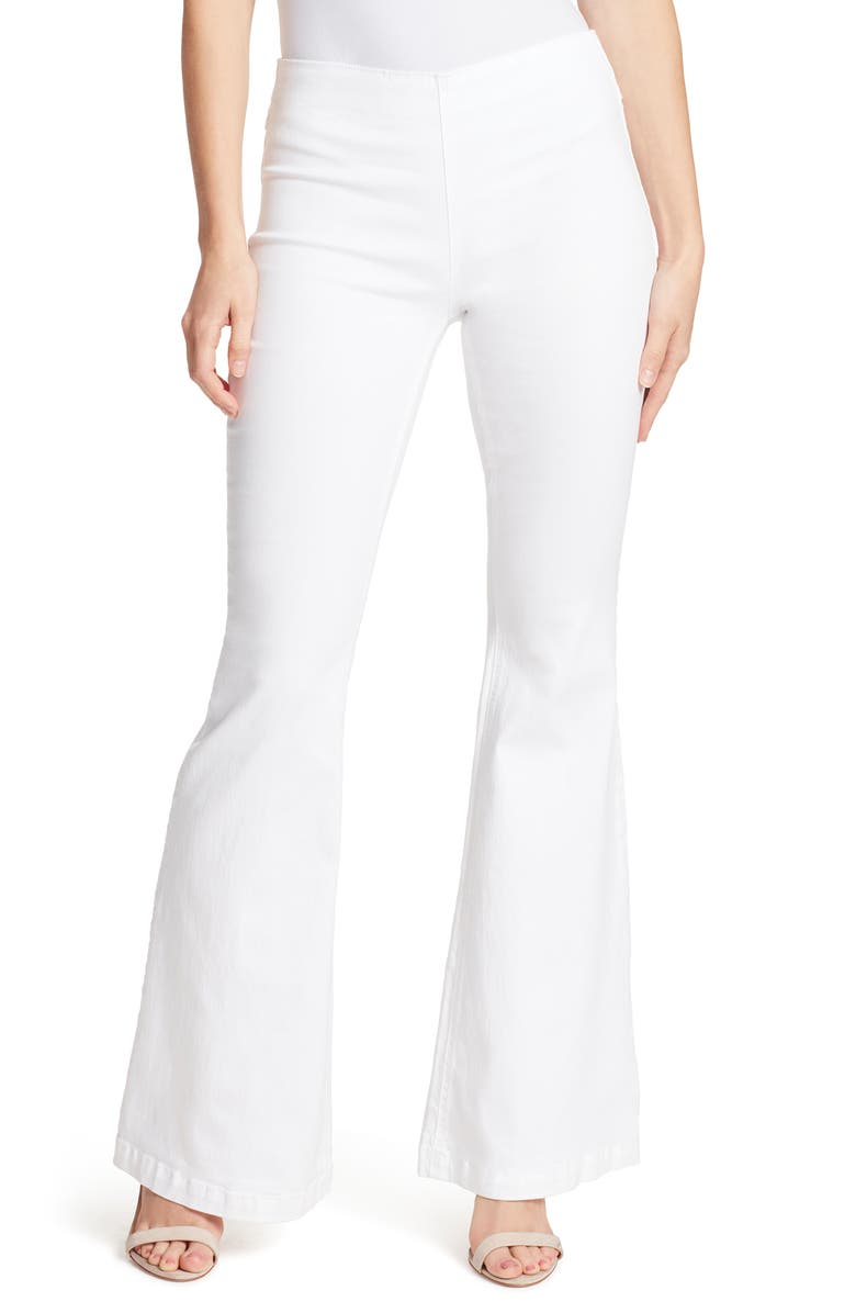 ELLA MOSS Pull-On Flare Jeans, Main, color, WHITE