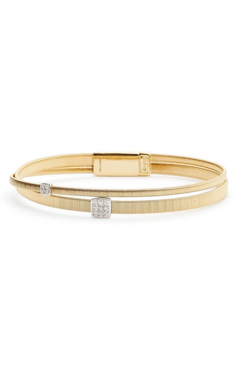 MARCO BICEGO Masai Crossover Diamond Bracelet, Main, color, 710