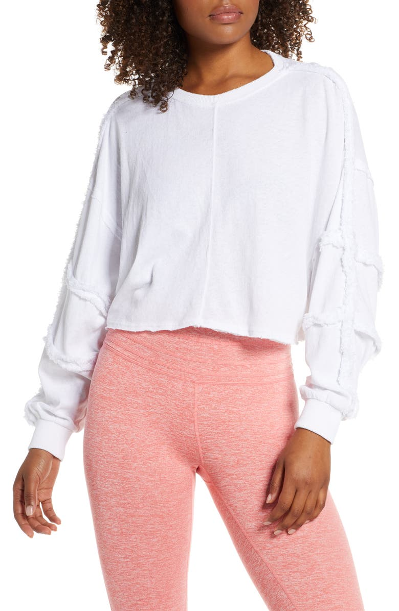 FREE PEOPLE MOVEMENT Magnolia Pullover, Main, color, WHITE