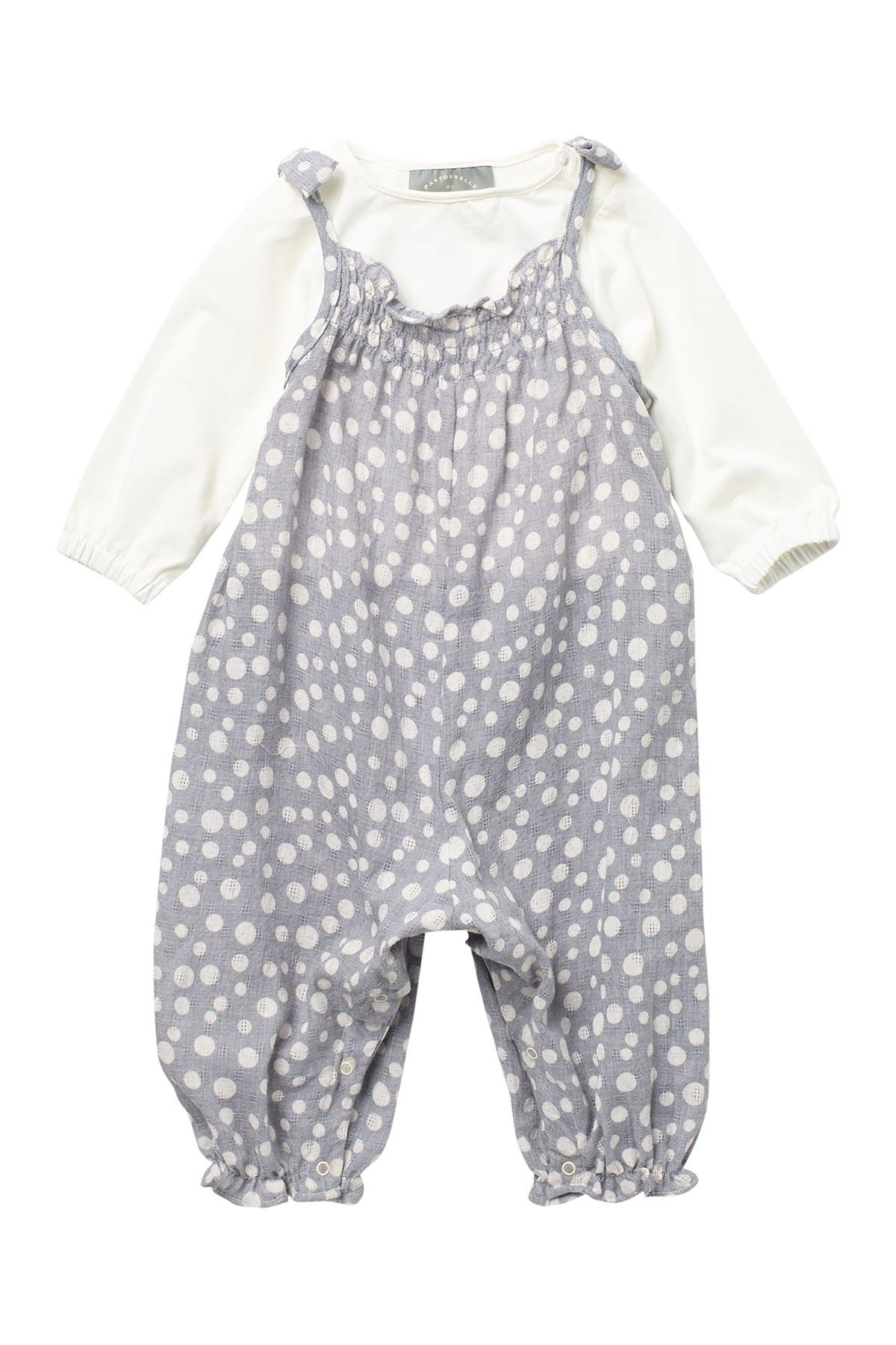 Image of Pastourelle by Pippa and Julie Smocked Dot Print Romper Set