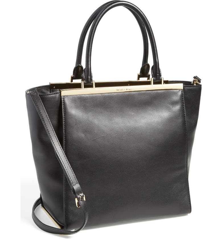 MICHAEL MICHAEL KORS 'Large Lana' Leather Tote, Main, color, 001