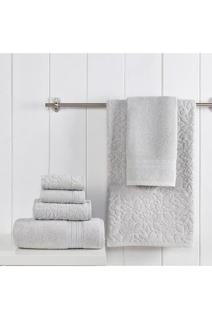 Image of Modern Threads Jacquard Turkish Made 6-Piece Towel Set - Mineral