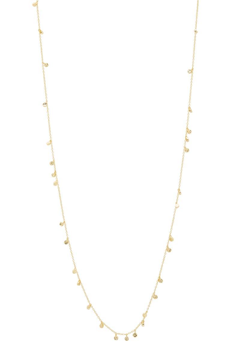 GORJANA Chloe Mini Disc Long Necklace, Main, color, GOLD