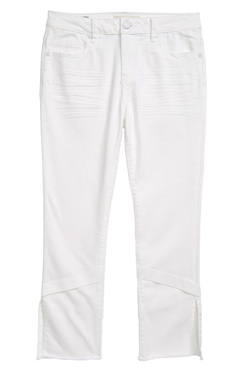 HABITUAL GIRL June Twill Ankle Pants, Main, color, WHITE