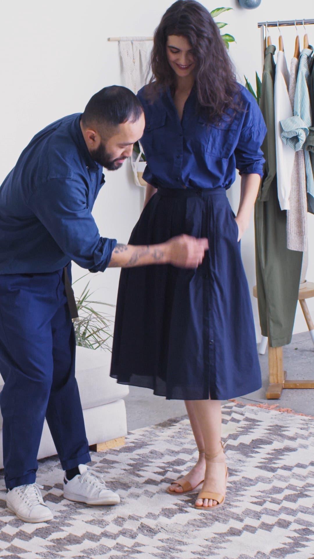 Cotton Midi Skirt, sales video thumbnail