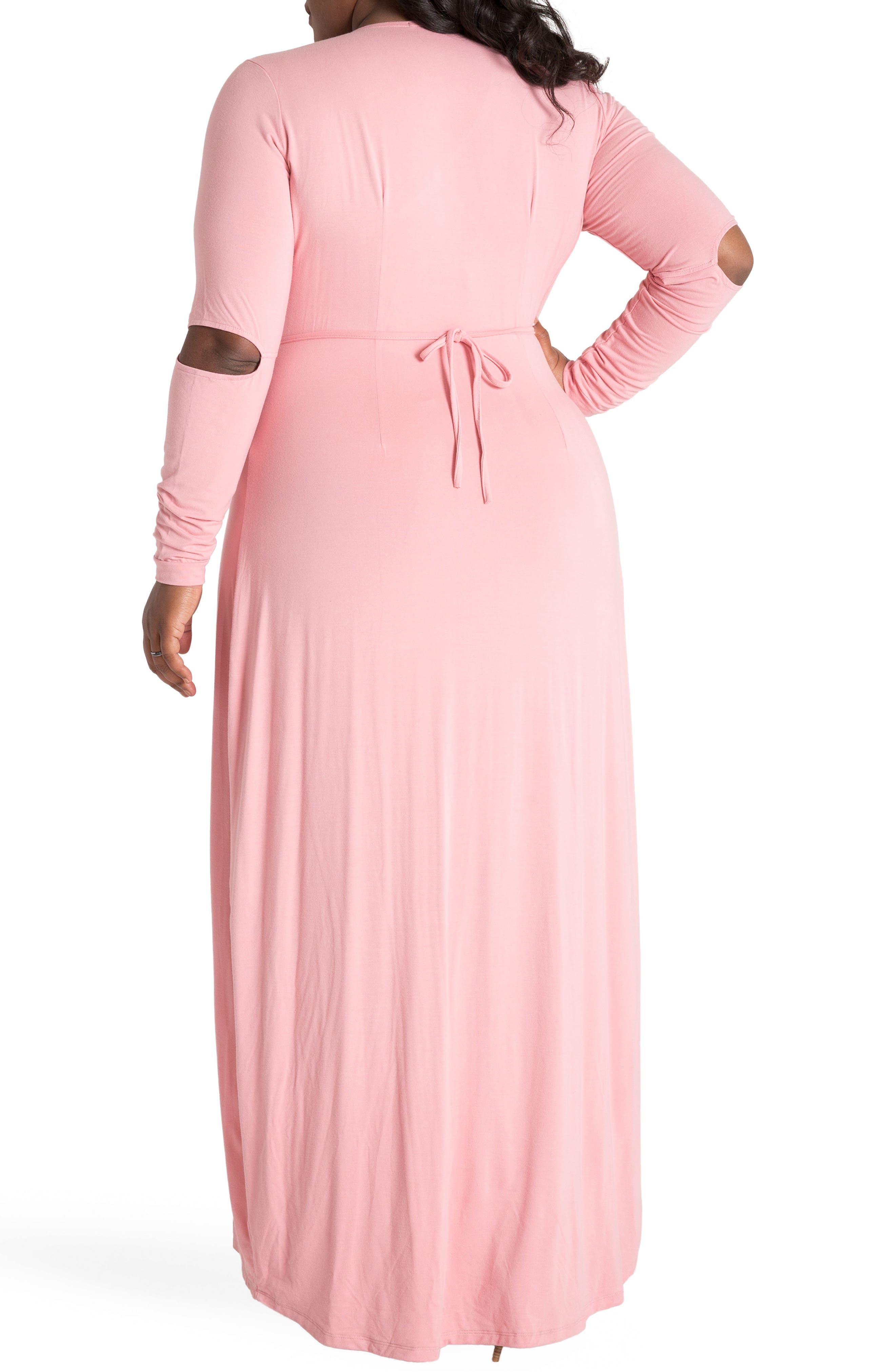 ,                             Rosa Maxi Wrap Dress,                             Alternate thumbnail 2, color,                             PINK