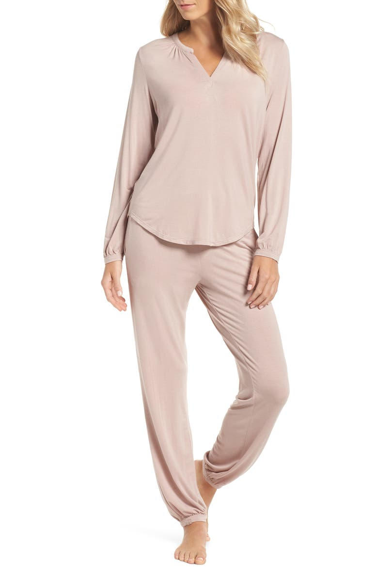 BAREFOOT DREAMS<SUP>®</SUP> Namaste Two-Piece Lounge Set, Main, color, FADED ROSE