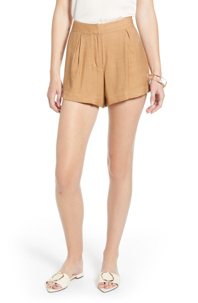 SOMETHING NAVY Drapey Shorts, Main, color, 230