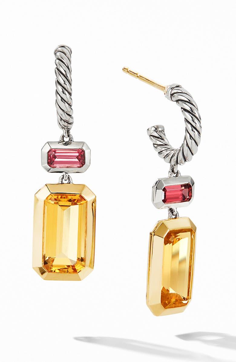 DAVID YURMAN Novella Drop Earrings with 18K Yellow Gold, Main, color, CITRINE