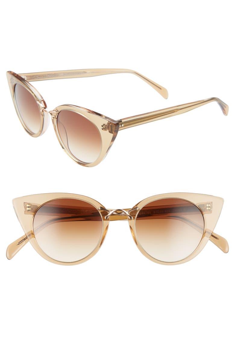 OSCAR DE LA RENTA X MORGENTHAL FREDERICS Twist III 47mm Gradient Cat Eye Sunglasses, Main, color, 200