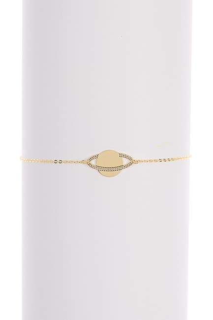 Image of KARAT RUSH 14K Yellow Gold Saturn Charm Bracelet
