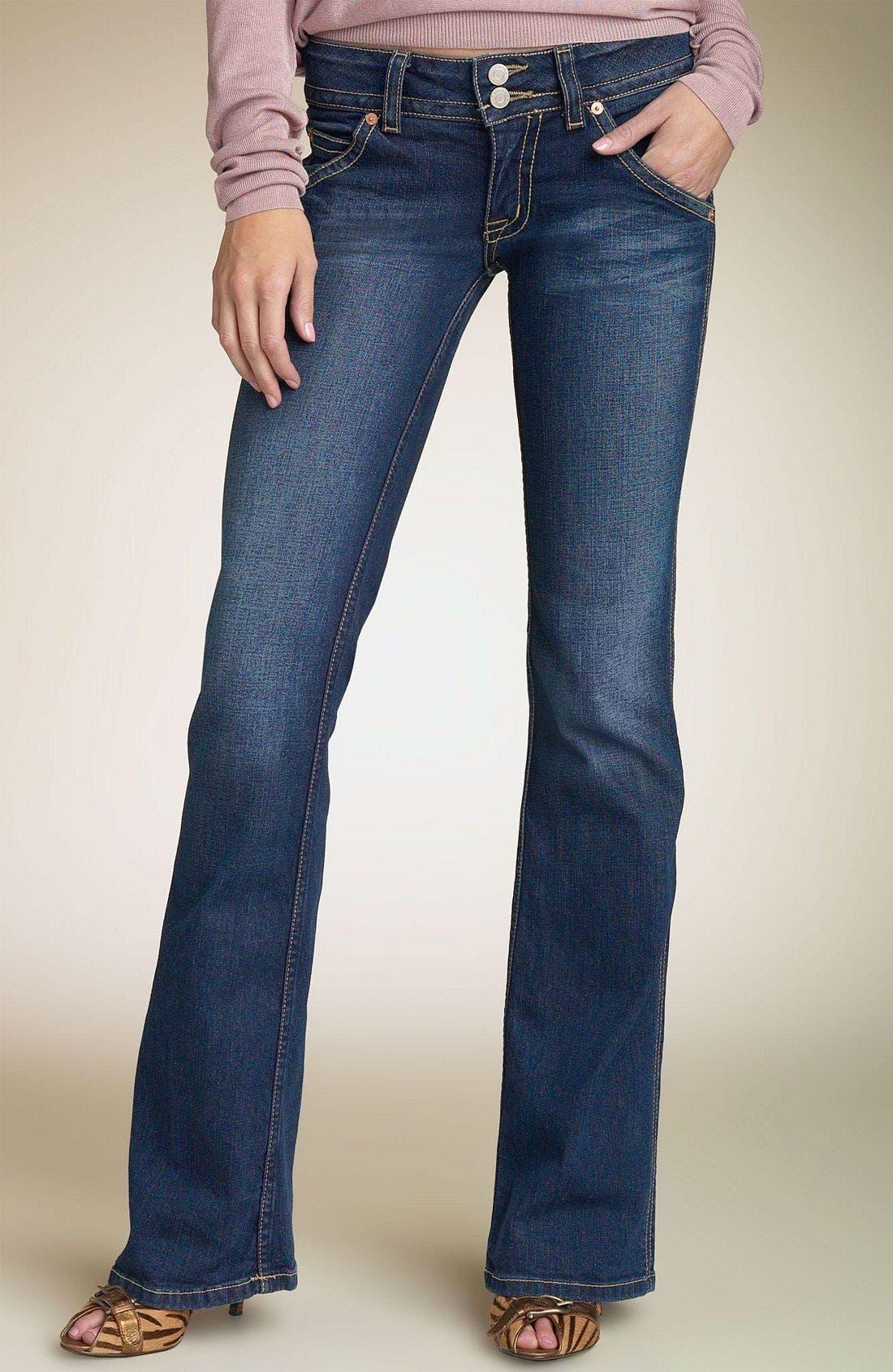 ,                             Signature Flap Pocket Bootcut Jeans,                             Main thumbnail 97, color,                             DRK