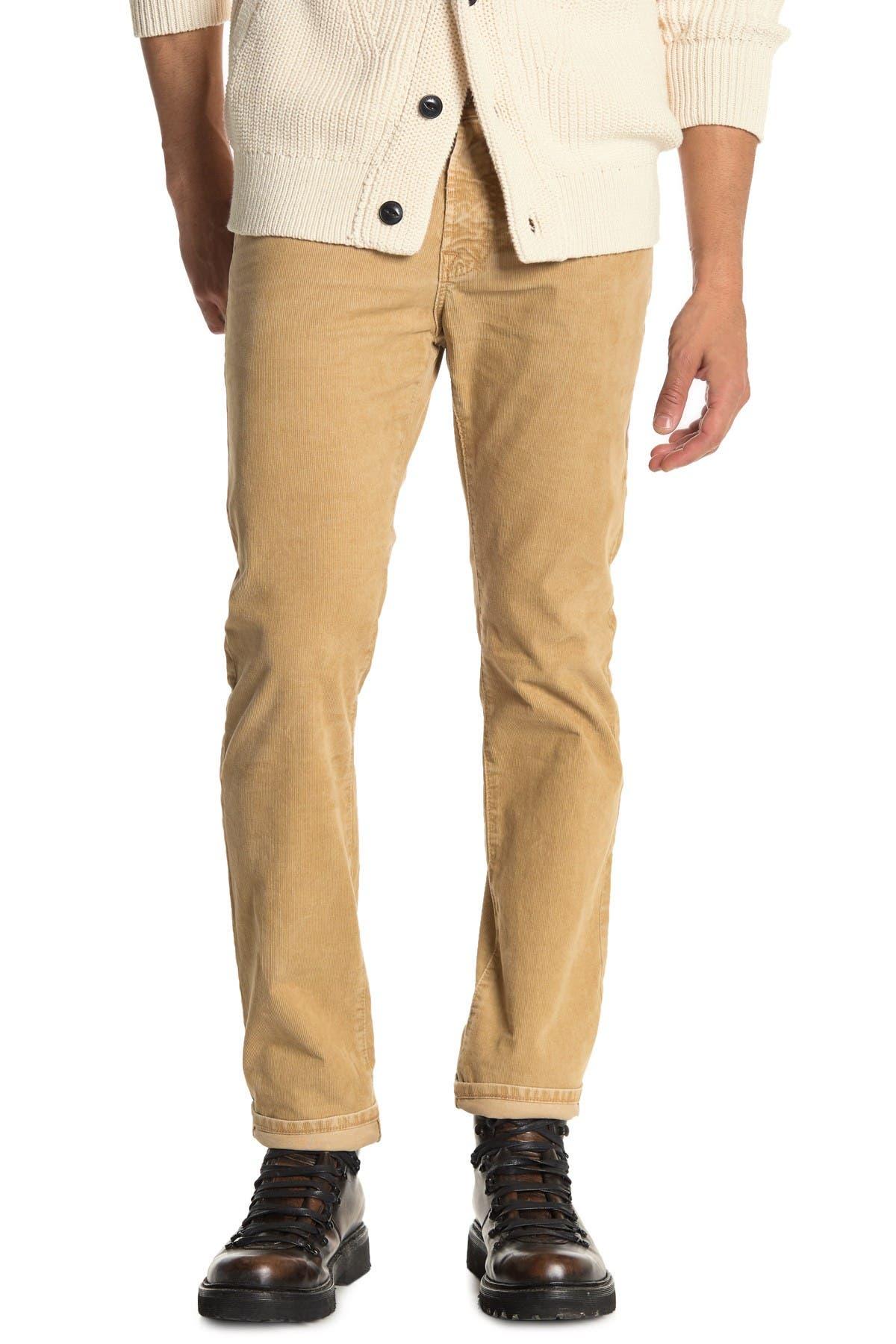 Image of AG Matchbox Slim Straight Leg Corduroy Pants