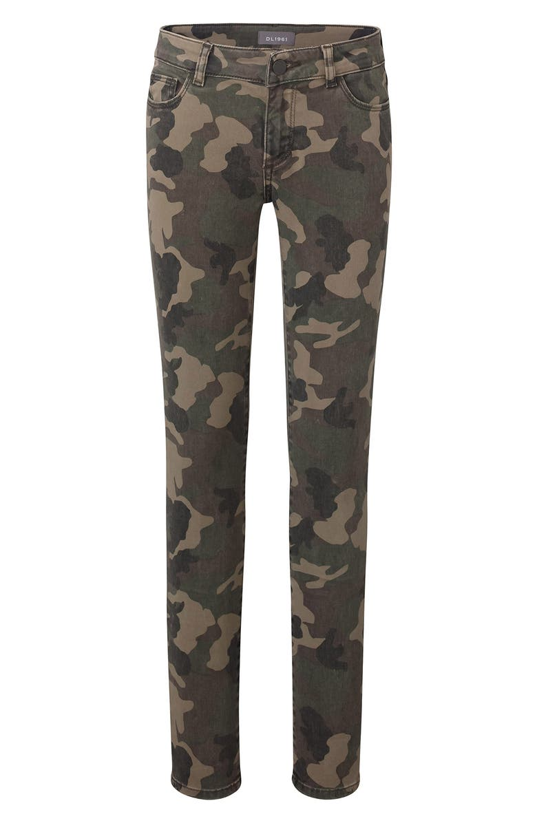 DL1961 Camo Skinny Jeans, Main, color, CAMPER