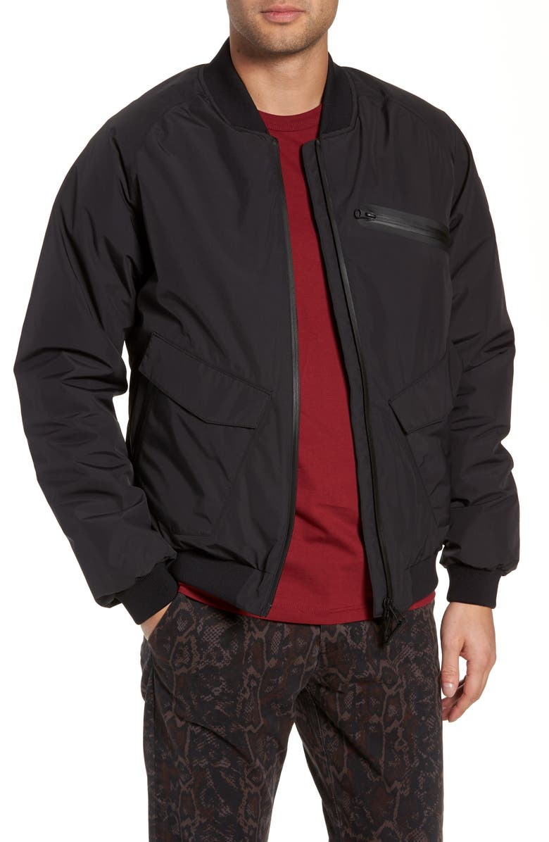 NOBIS Blake Bomber Jacket, Main, color, BLACK