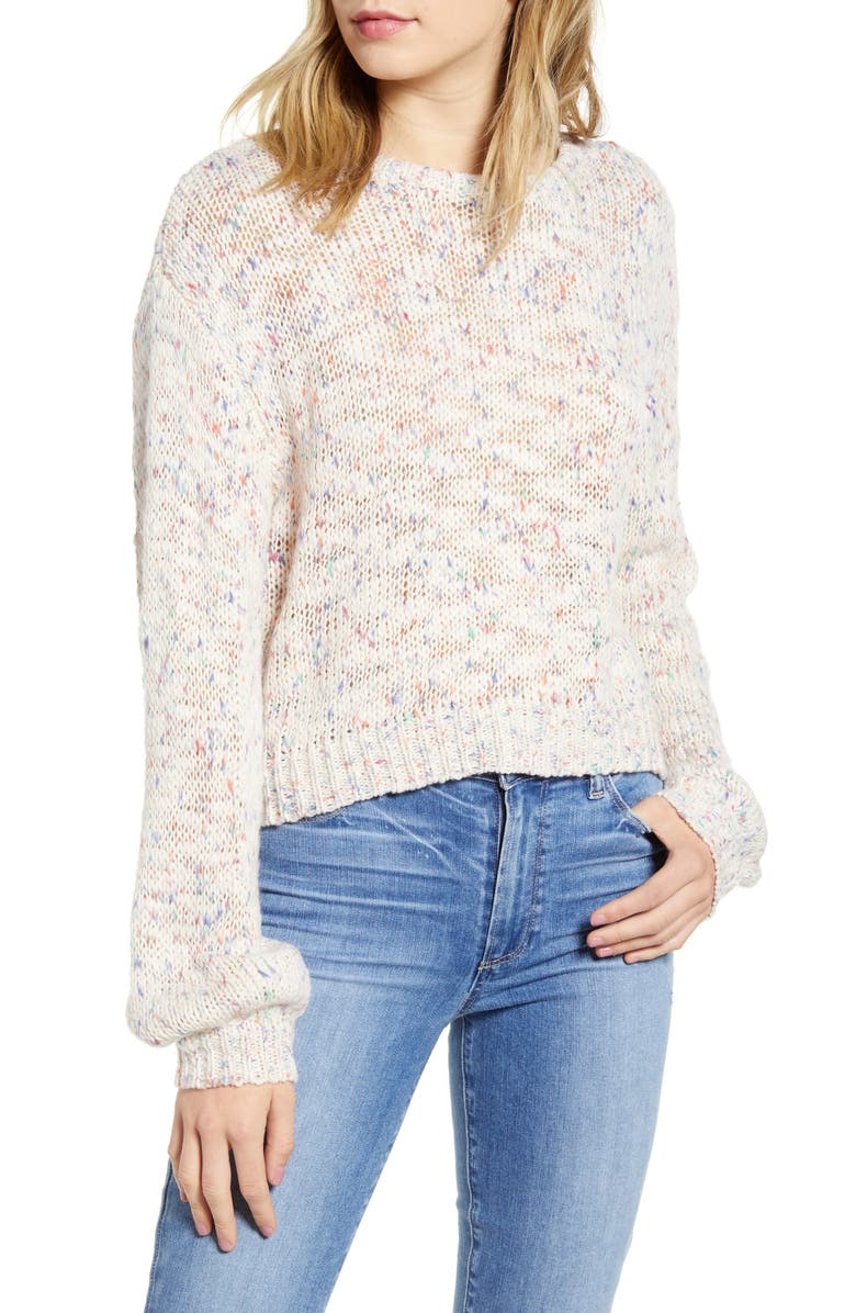 CUPCAKES AND CASHMERE Arnhem Speckle Sweater, Main, color, 250