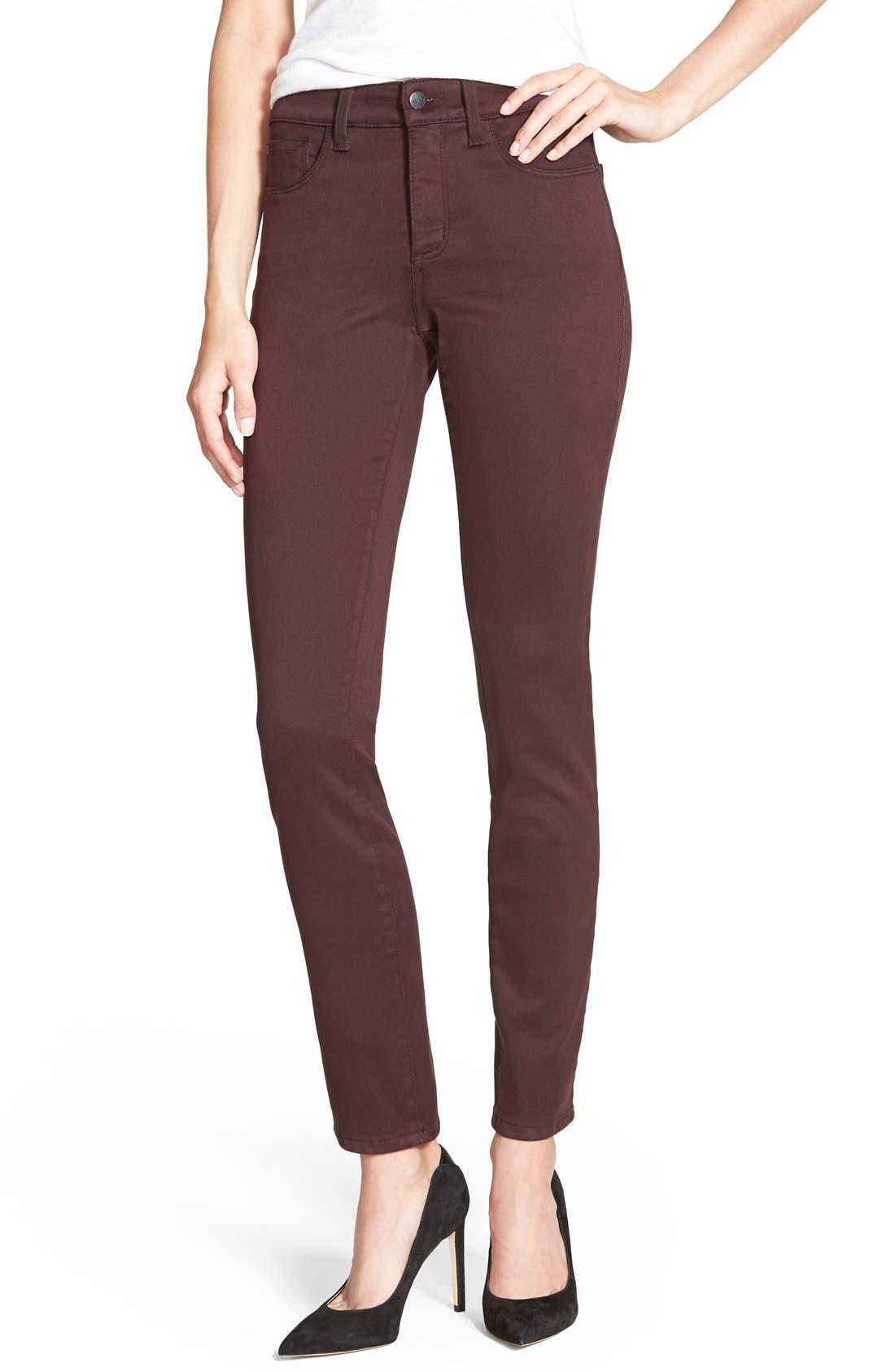 Image of NYDJ Alina Colored Stretch Skinny Jeans