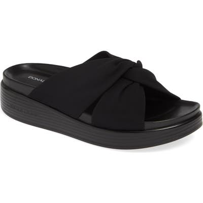 Donald Pliner Freea Slide Sandal- Black