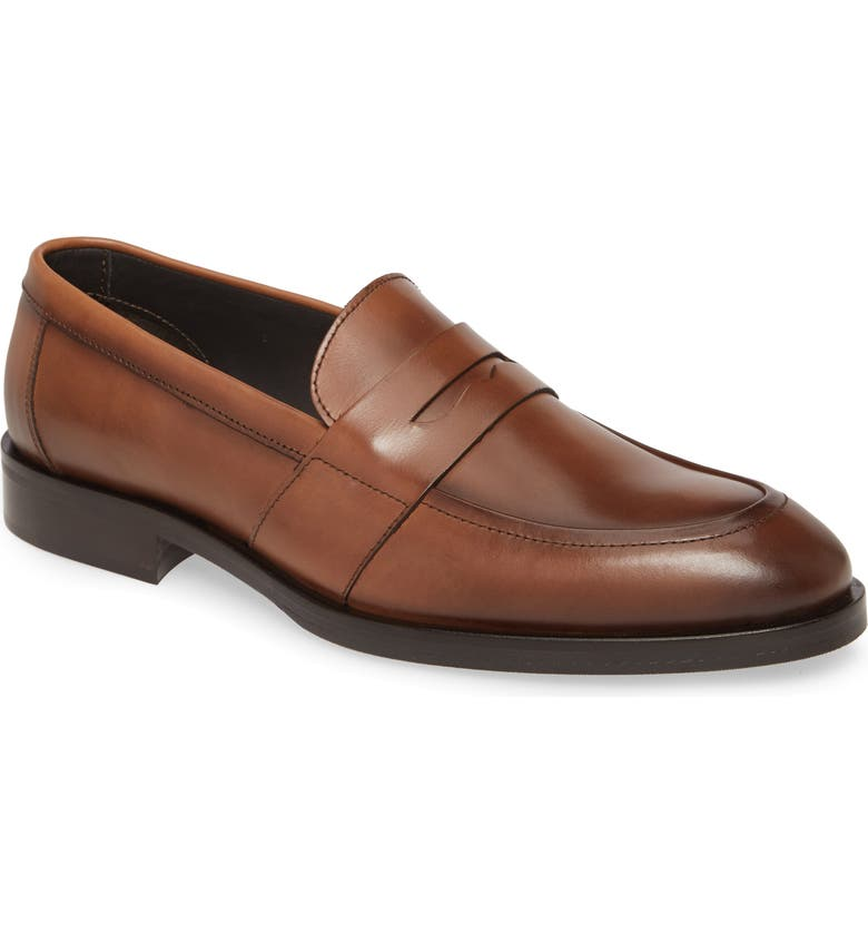 TO BOOT NEW YORK Devries Penny Loafer, Main, color, BROWN