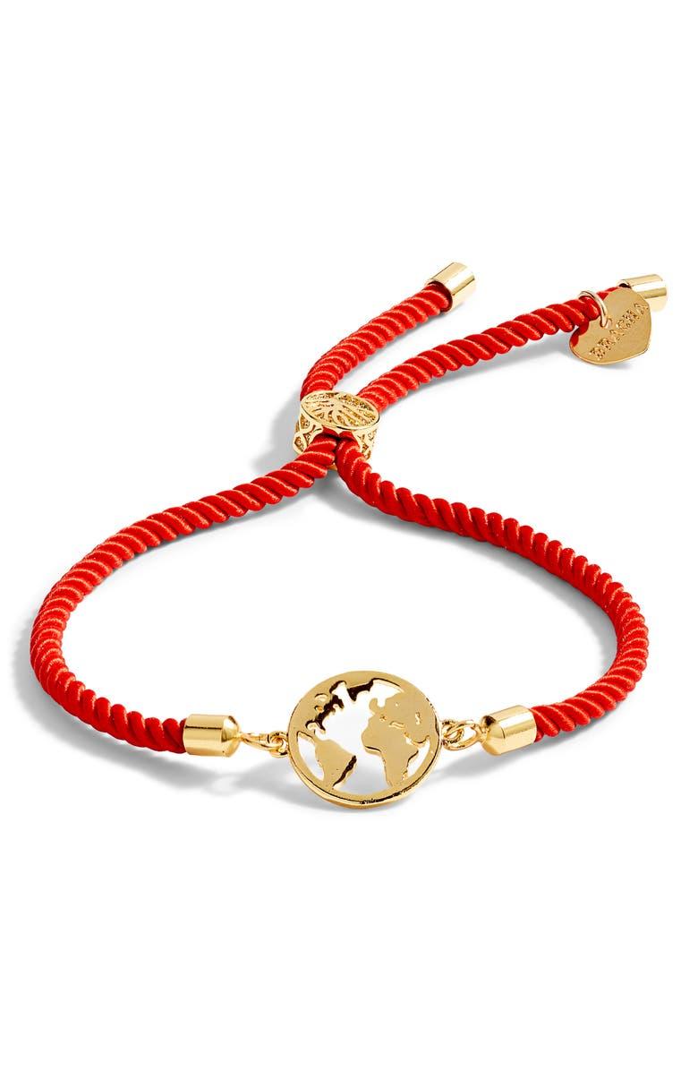 BRACHA Jetsetter Adjustable Bracelet, Main, color, RED/ GOLD