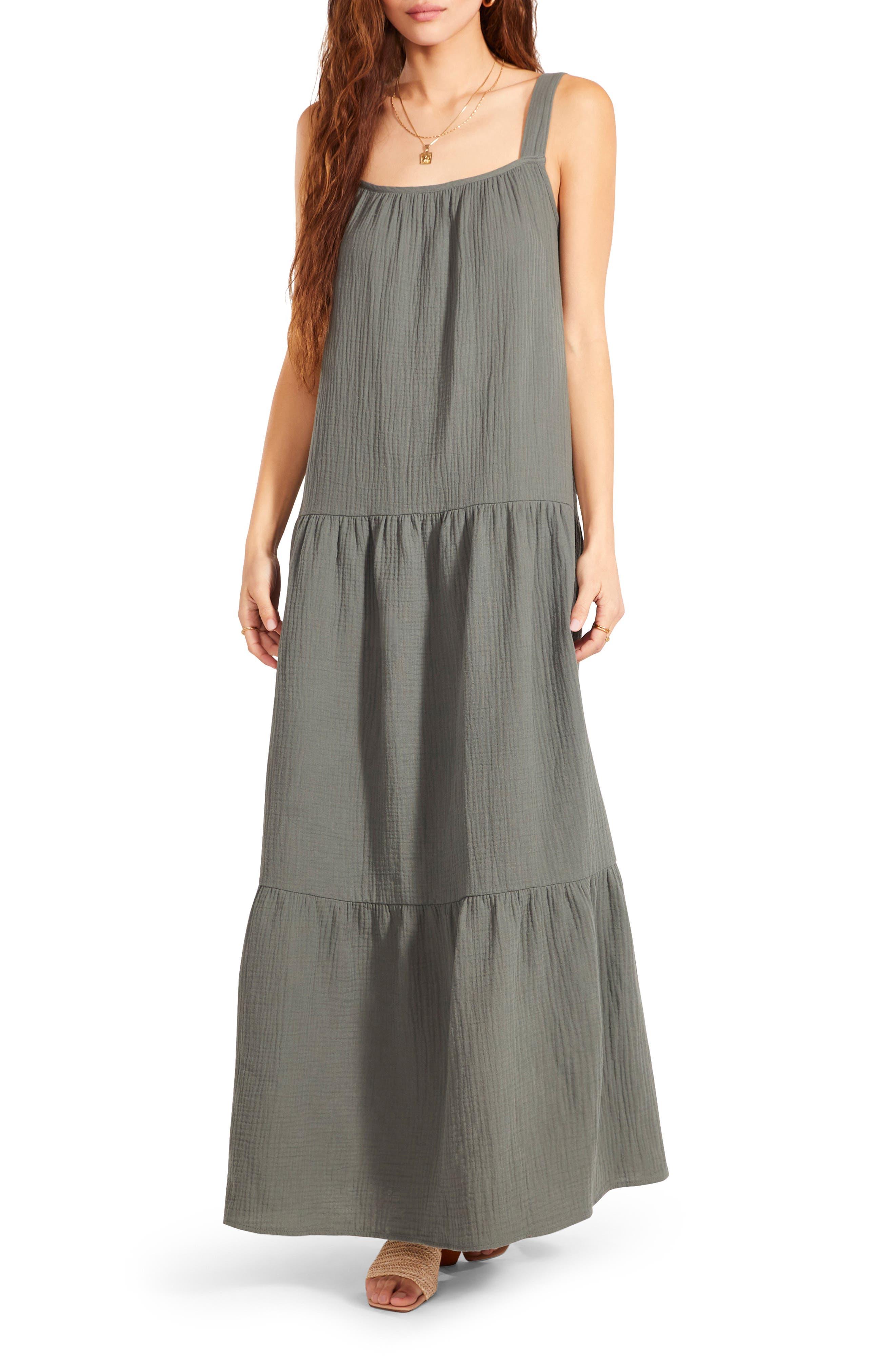 Bb Dakota ARIANNA SLEEVELESS TIERED MAXI DRESS