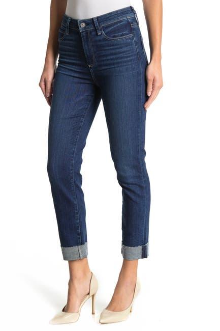 Image of PAIGE Hoxton High Waist Raw Cuffed Crop Slim Jeans