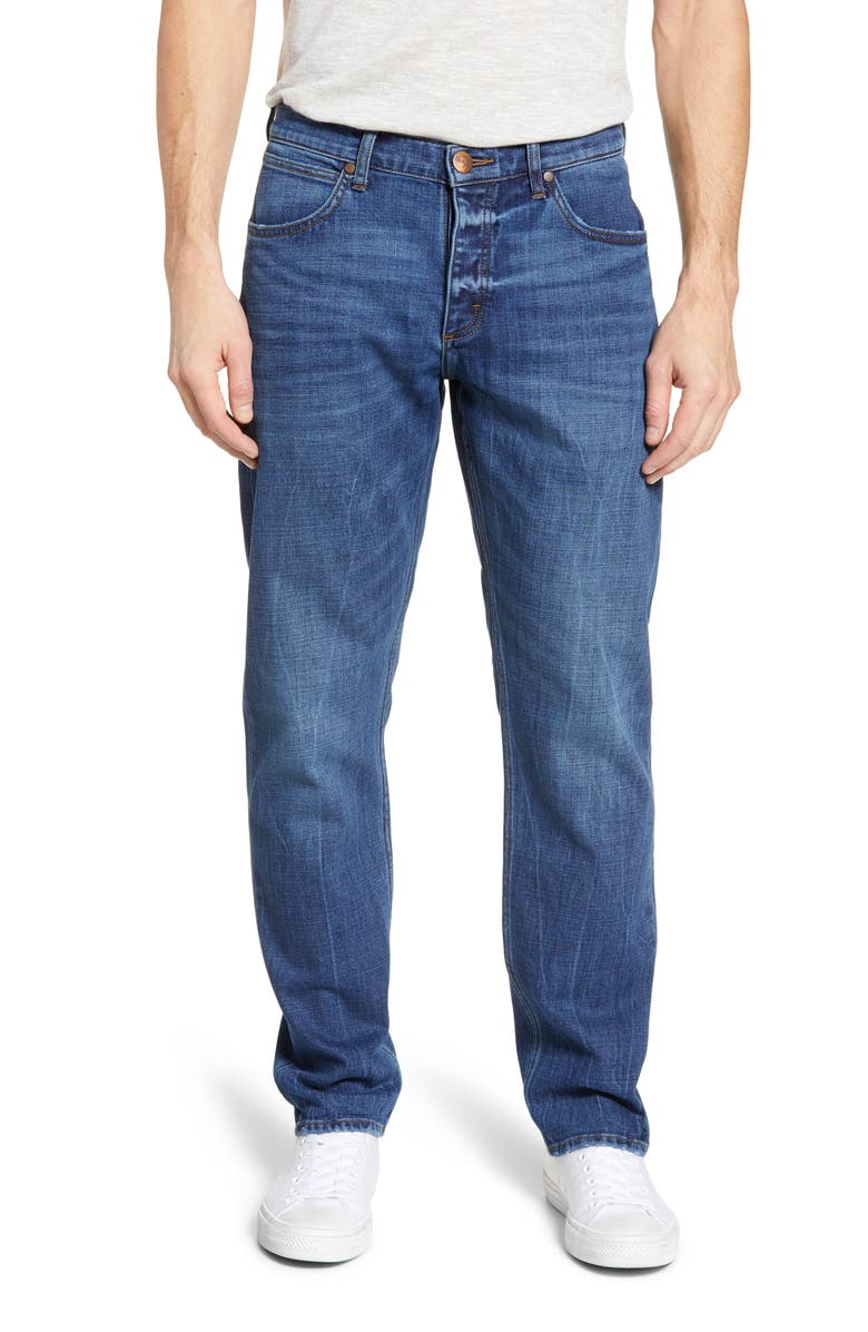 WRANGLER Slider Slim Straight Leg Jeans, Main, color, 472