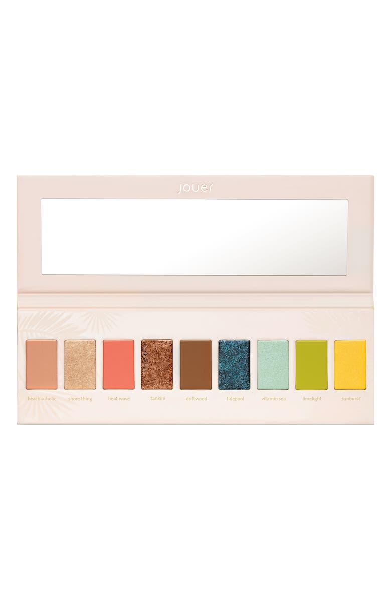 JOUER Tan Lines Matte, Shimmer & Luxe Foil Eyeshadow Palette, Main, color, NO COLOR
