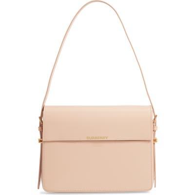 Burberry Large Grace Leather Shoulder Bag - Pink