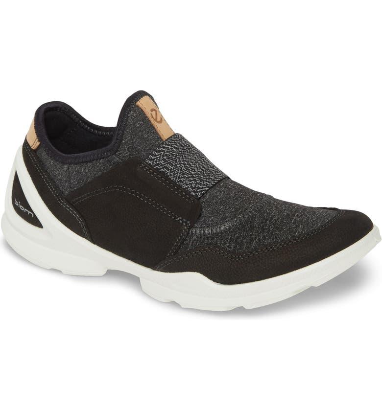 ECCO BIOM Street Slip-On Sneaker, Main, color, BLACK/ BLACK