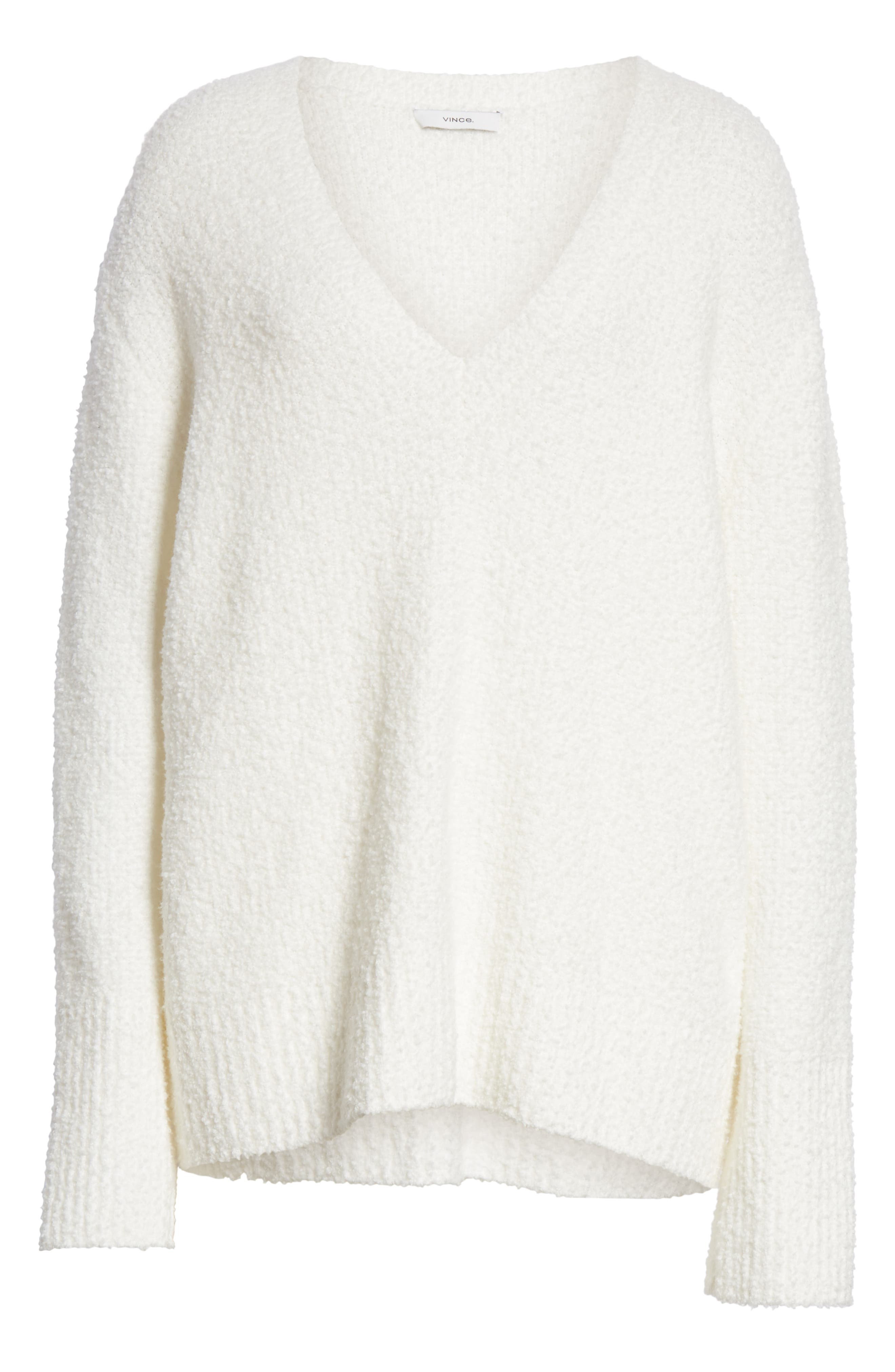 ,                             Textured Tunic Sweater,                             Alternate thumbnail 6, color,                             WHITE