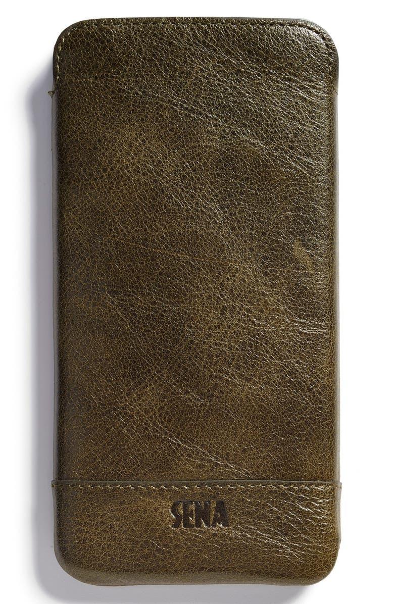 brand new 1b2b1 28ad0 Sena Heritage - Ultra Slim Leather iPhone 6 Plus/6s Plus Pouch ...